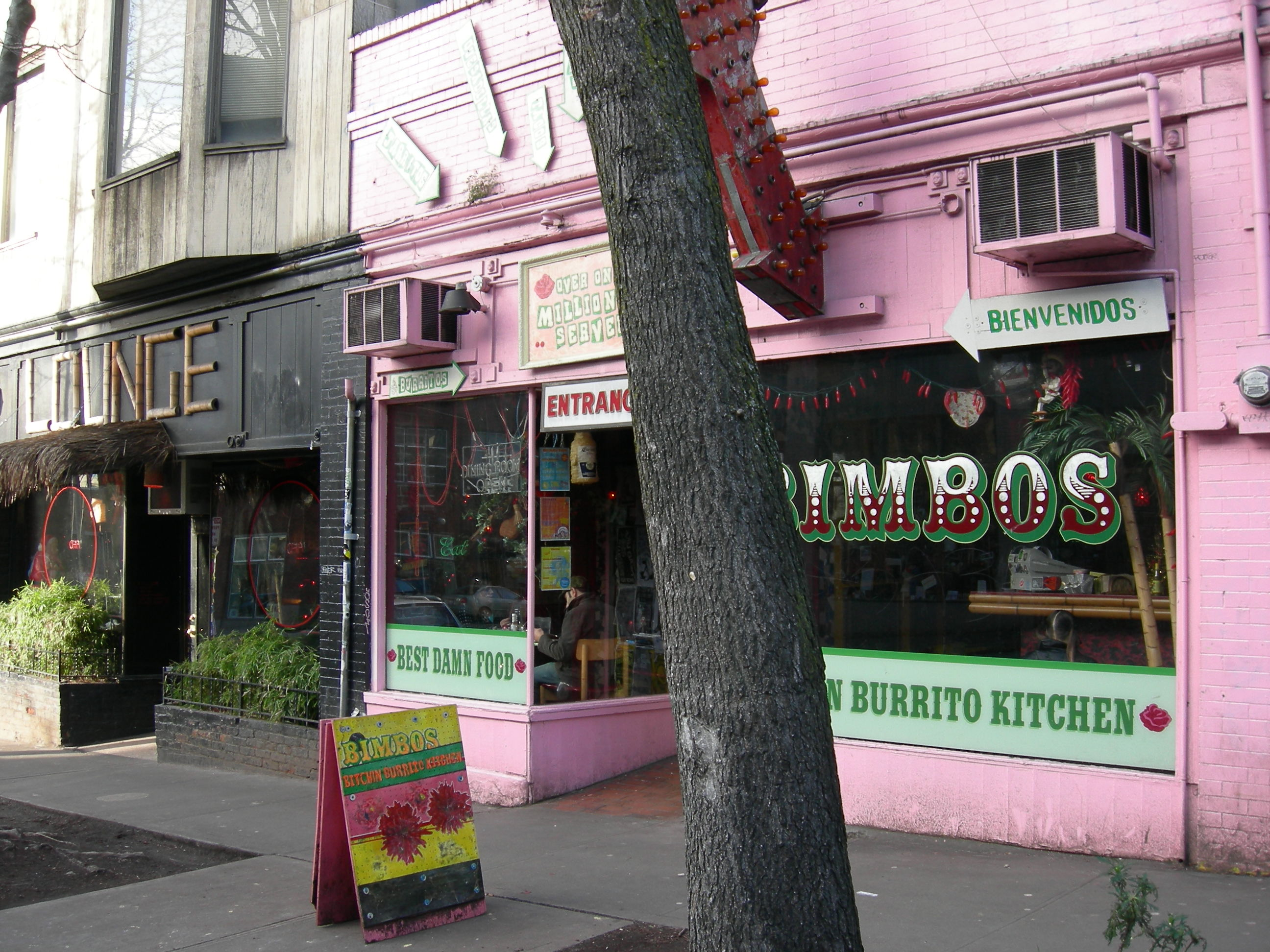 Image result for history of bimbos burritos in seattle