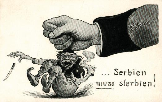 Austrian propaganda in 1914, after the assassination of Franz Ferdinand