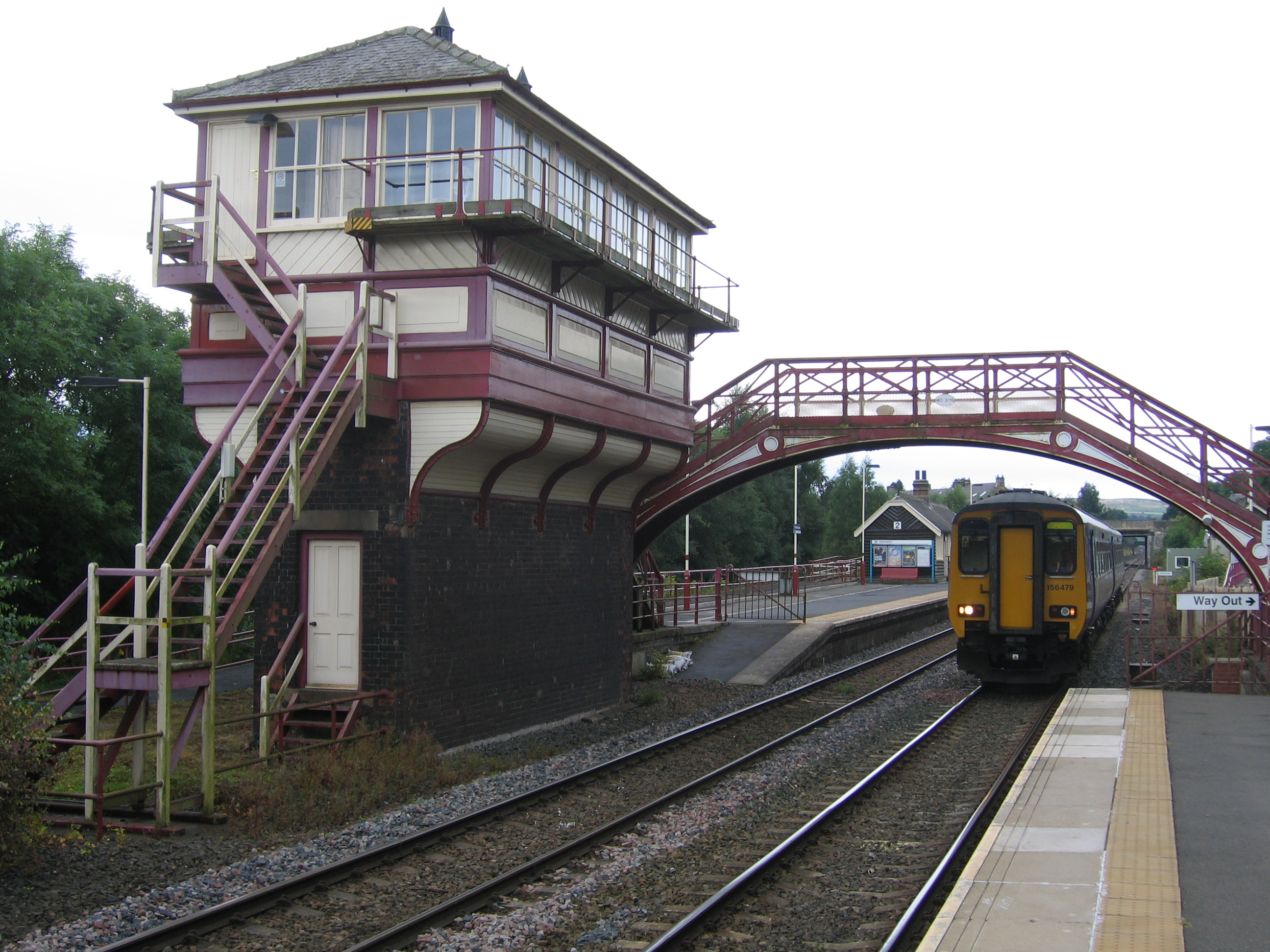 2 Newcastle Line. Stocksfield Corbridge Riding Mill Railway Station Photo