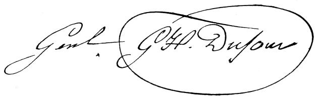 Guillaume Henri Dufour – podpis