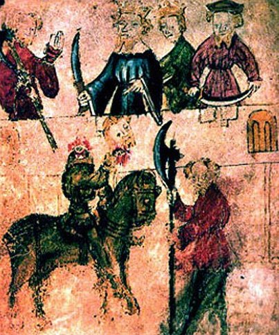 File:Sir Gawain and the Green Knight, from Pearl Manuscript.jpg