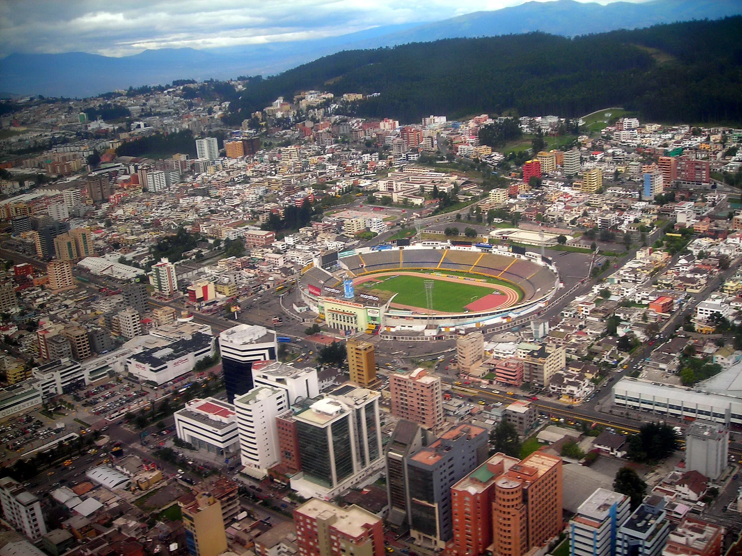 Stadion Quito yang berada di wilayah pegunungan Ekuador.