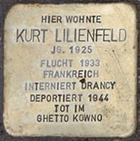 Stolperstein Kybitzstr 1 Kurt Lilienfeld