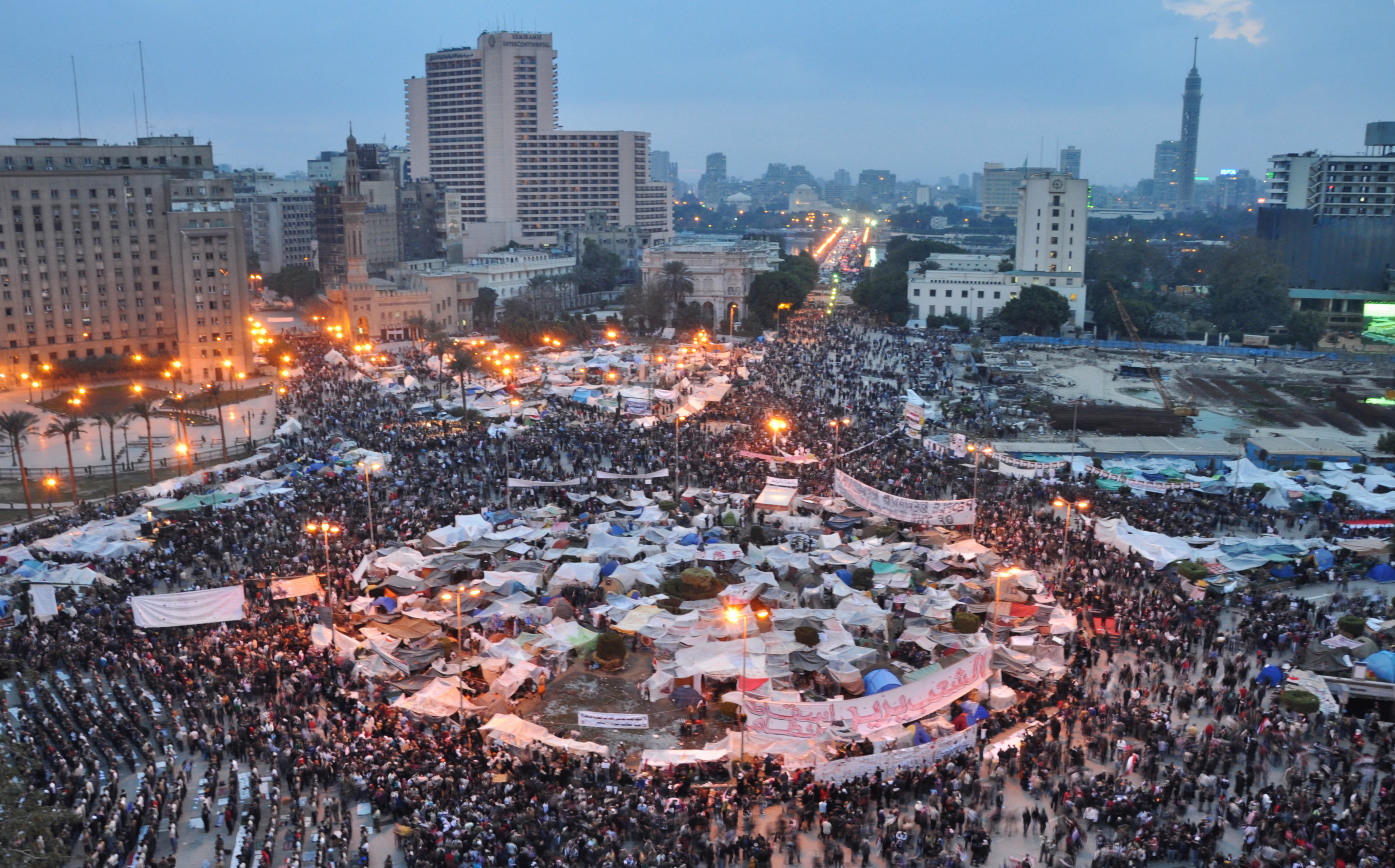 Tahrir Square in February 2011