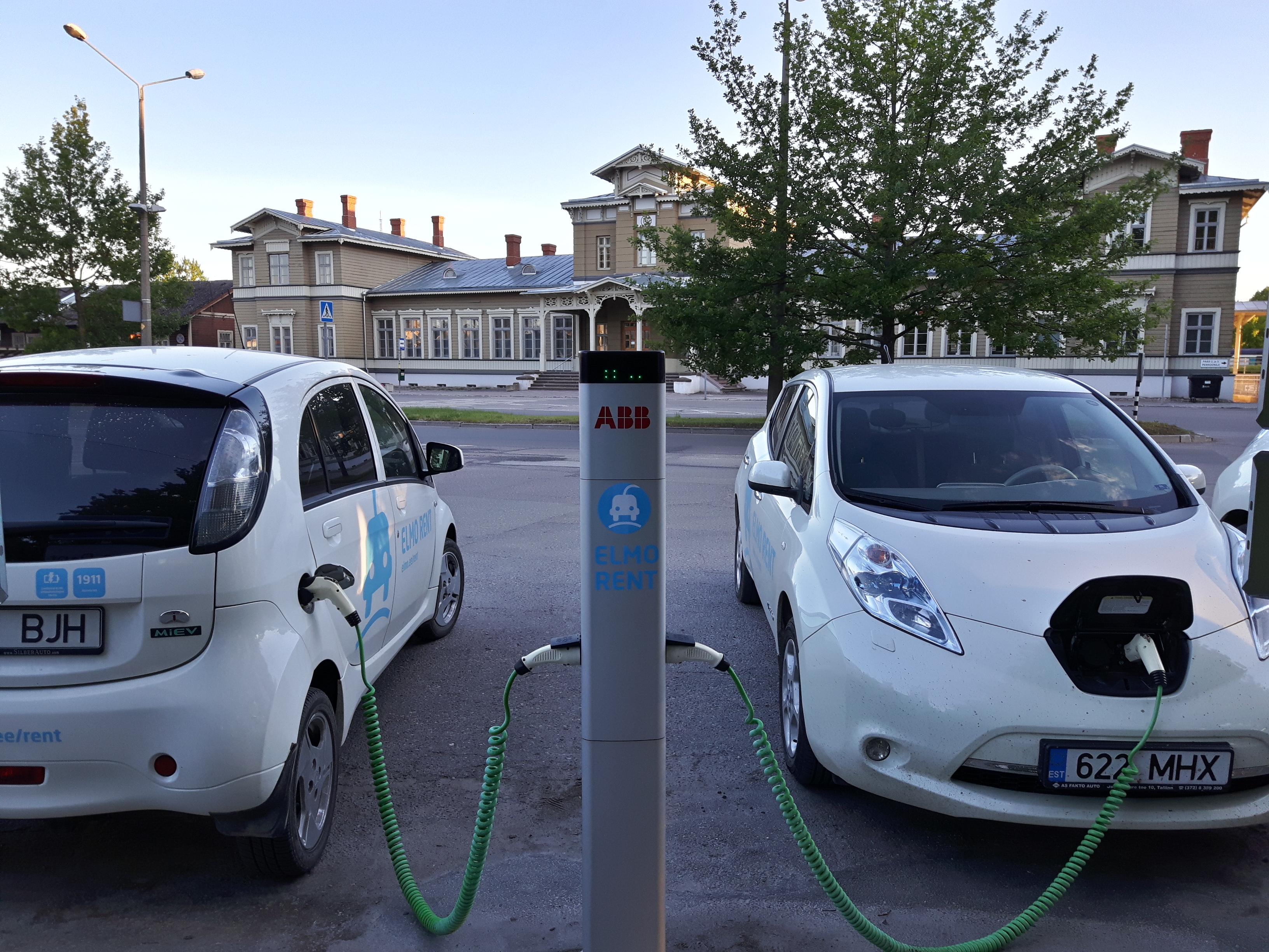 Electric Car Rental >> File Tartu Railway Station Electric Car Rental Jpg