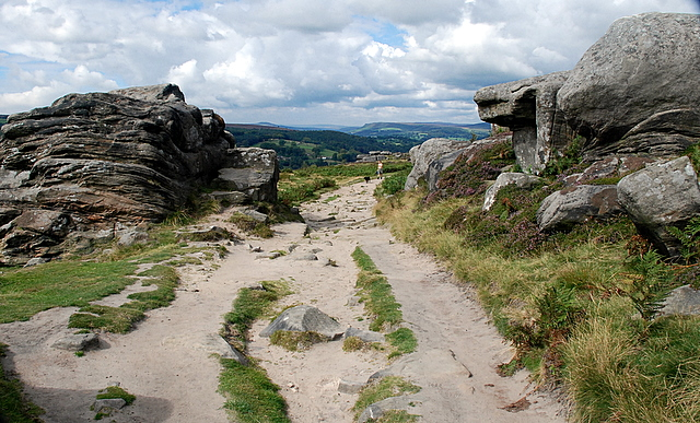 The path along Froggatt Edge - geograph.org.uk - 551026