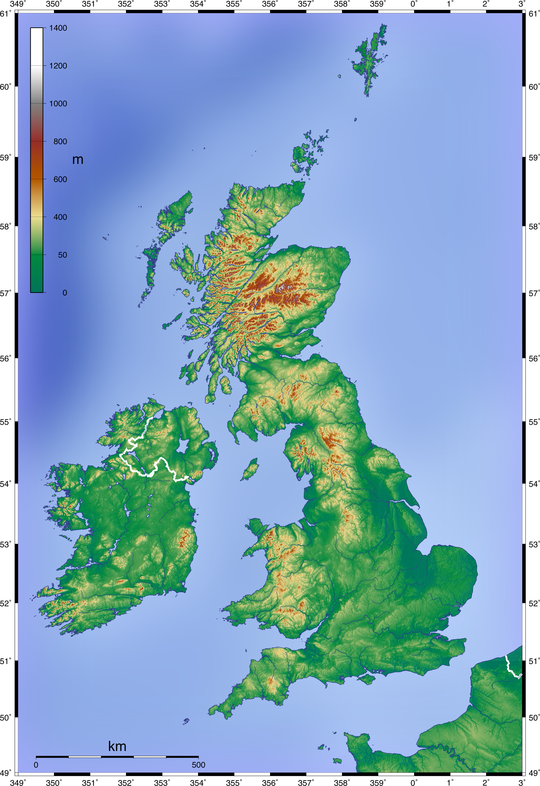 Topographic Maps Uk File:Topographic Map of the UK   Blank.png   Wikimedia Commons Topographic Maps Uk