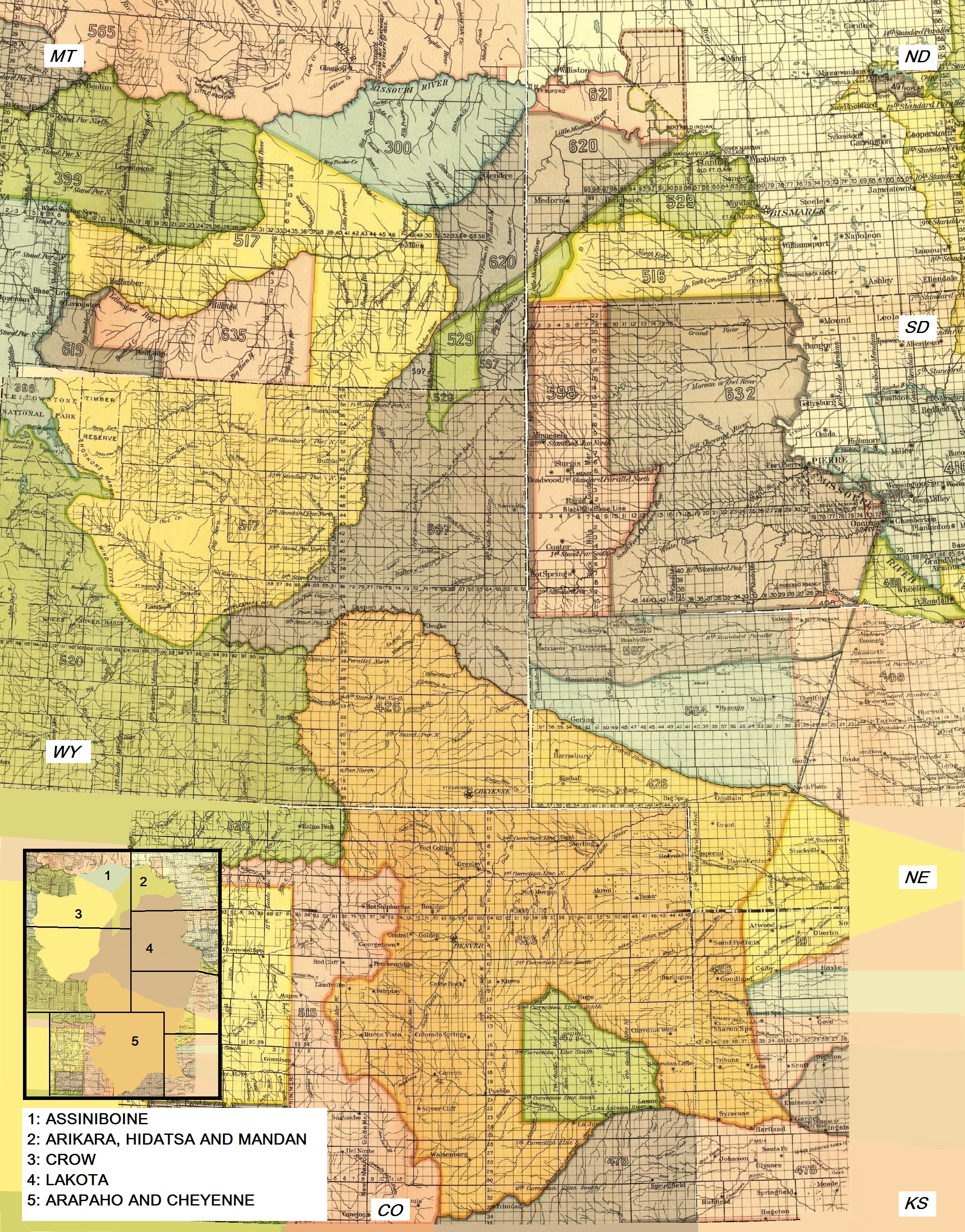 Treaty Of Fort Laramie 1851 Wikipedia - Us-indian-territory-map
