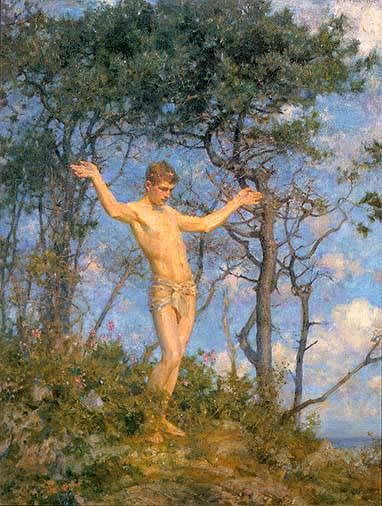 Tuke, Henry Scott (1858–1929) - 1904 - The sun worshipper (In the morning sun)