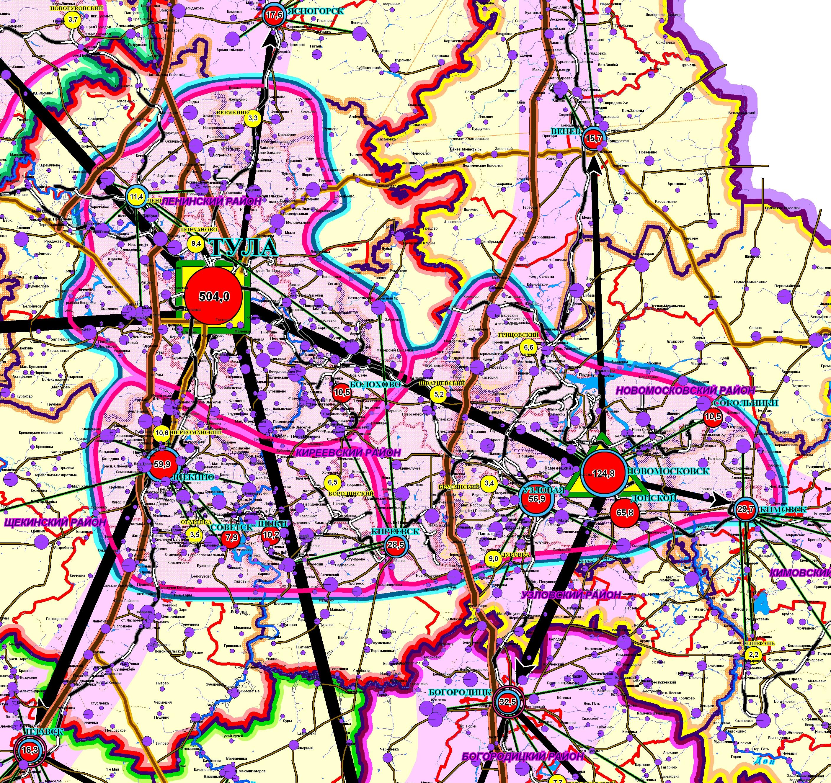 Novomoskovsk: a selection of sites