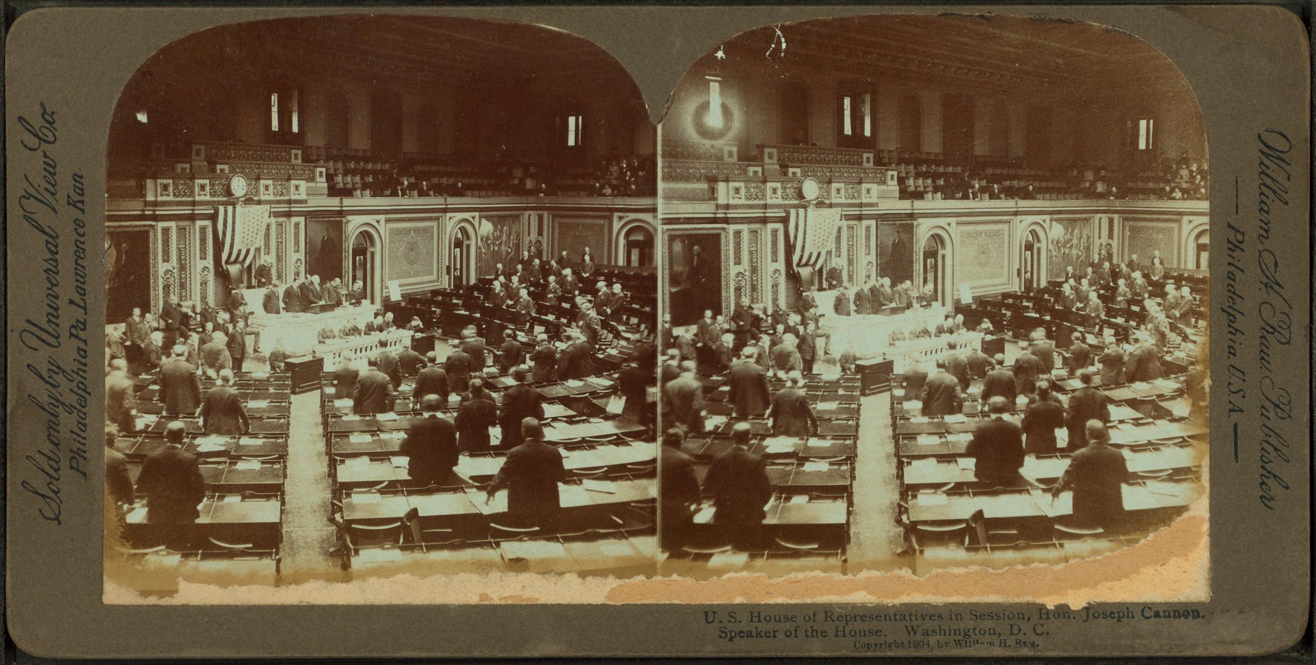 FileUS House of Representatives in session Hon Joseph Cannon