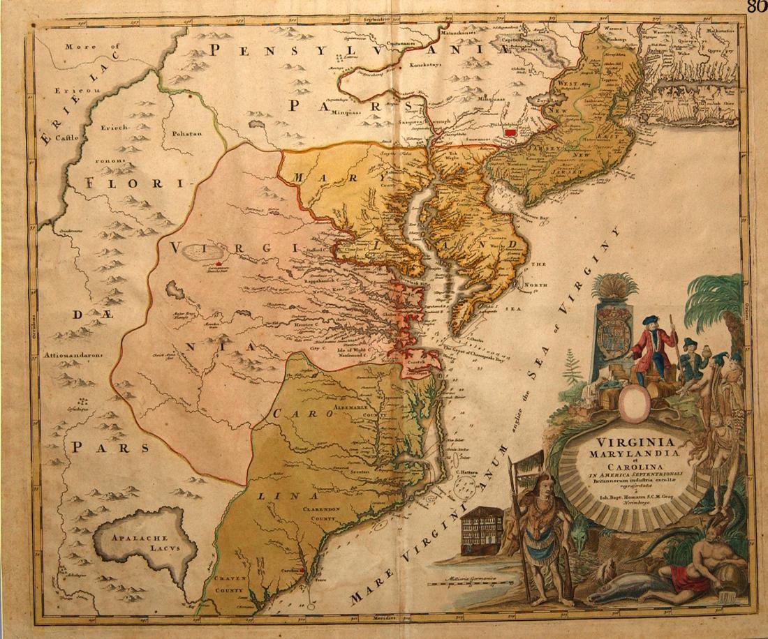 FileVirginia Marylandia et Carolina by Johann Baptist Homannjpg
