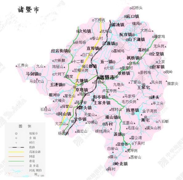 FileZhuji Mapjpg Wikimedia Commons - Zhuji map