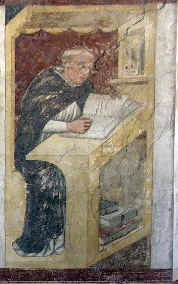 Den salige Jordan av Sachsen, fra en serie på førti berømte dominikanere i kapittelsalen i det tidligere klosteret San Niccolò i Treviso (1352)