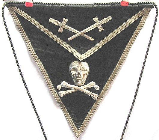 File:1800's -Masonic Knights Templar- Apron w Skull jpg - Wikimedia
