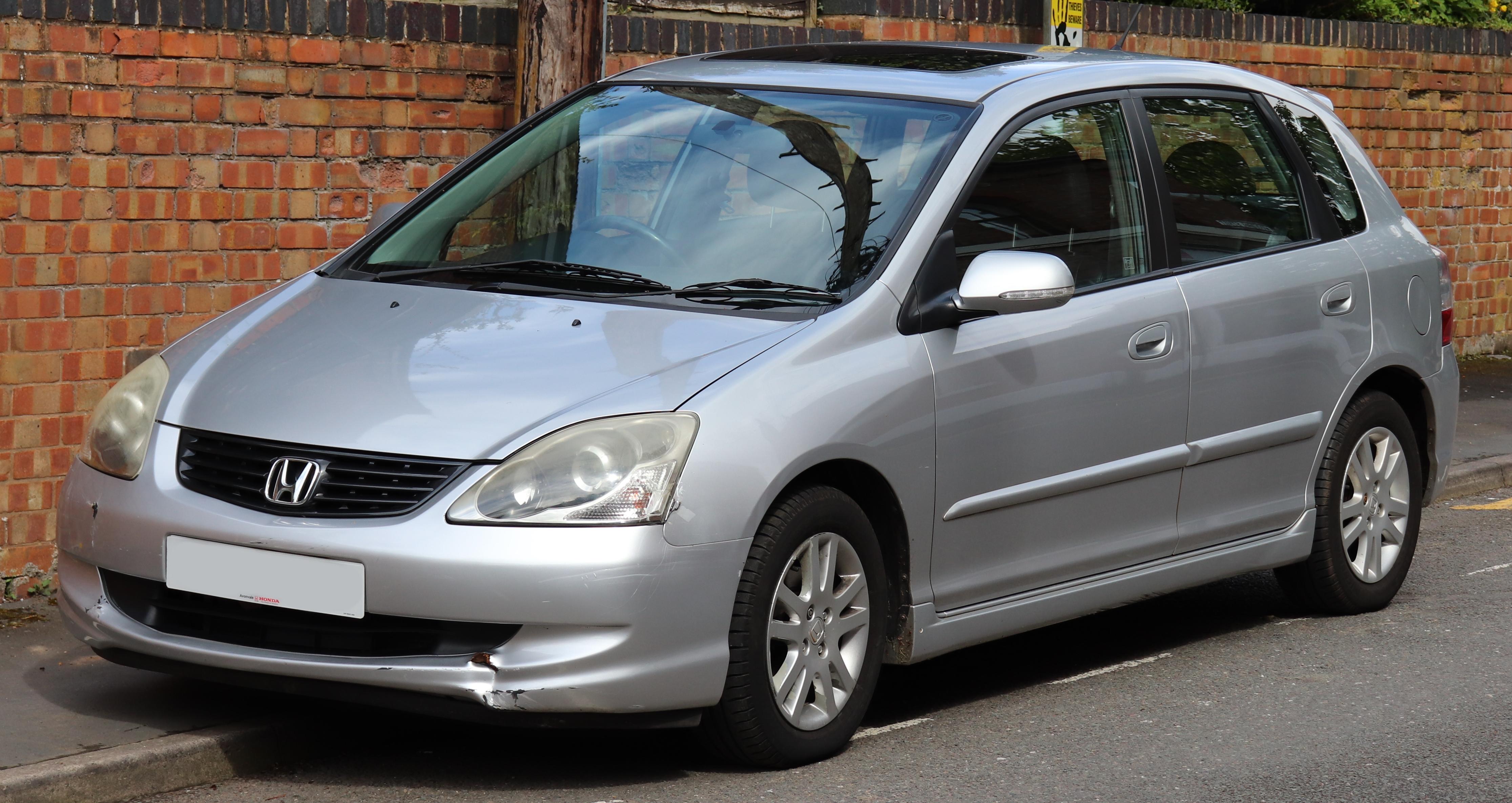 Ficheiro 2004 Honda Civic Vtec Executive 1 6 Front Jpg Wikipedia A Enciclopedia Livre