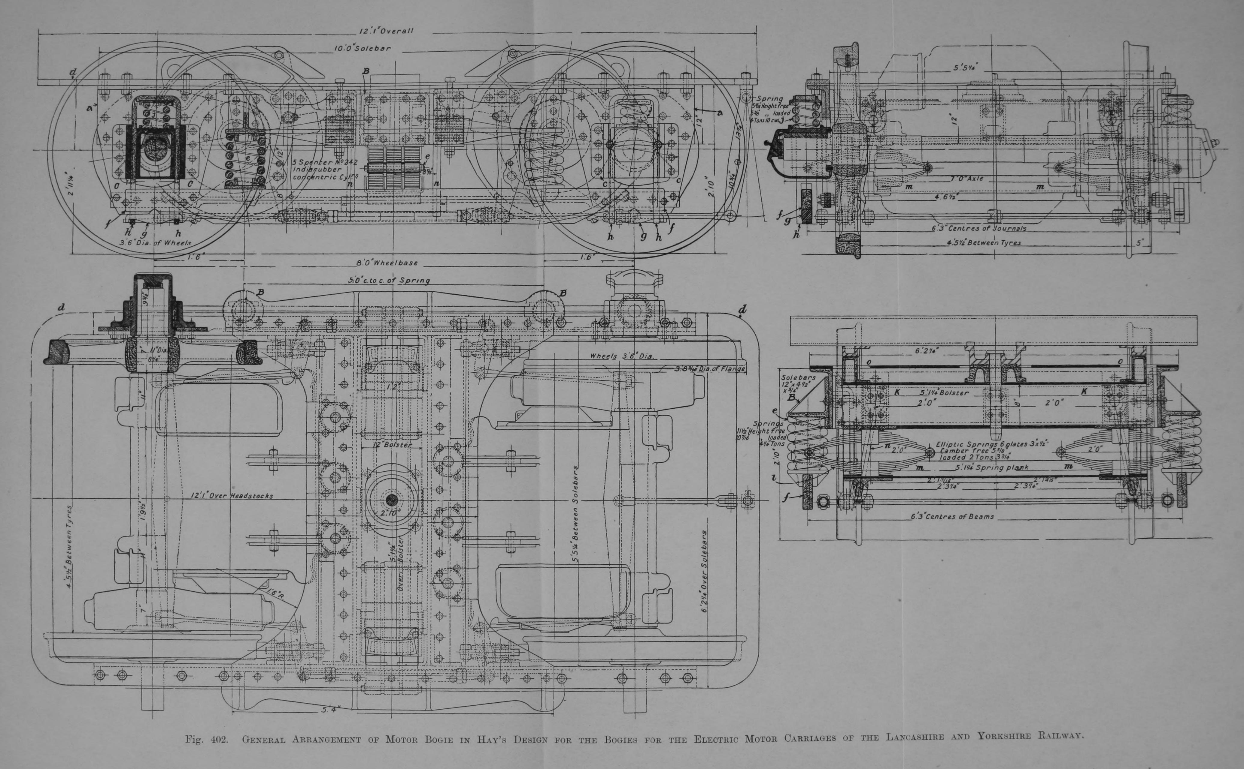 File 402 General Arrangement Of Motor Bogie In Hay 39 S