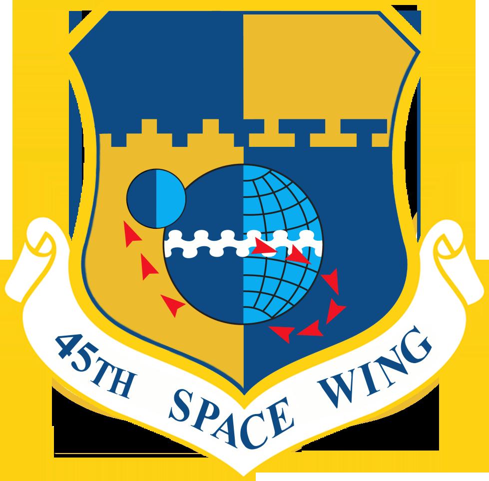 Lo stemma del 45th Space Wing (USAF).