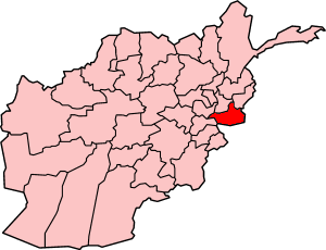 Map showing Nangarhar province in Afghanistan