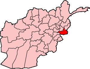 Map showing Nangarhar province in Afghanistan