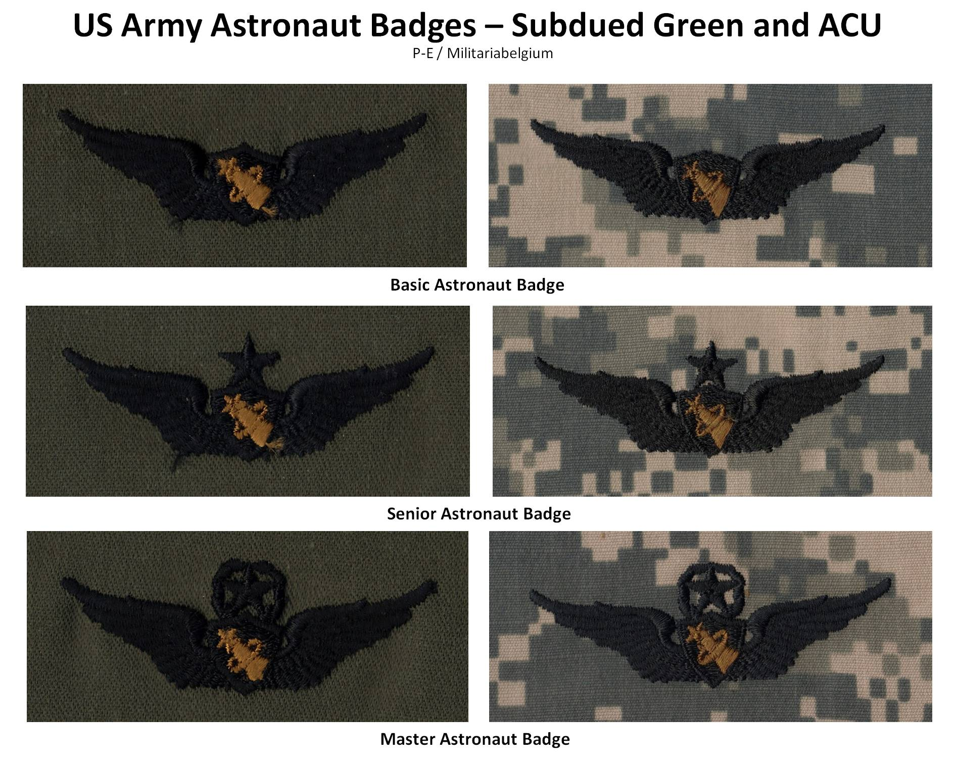 astronaut badges uniforms details - photo #24