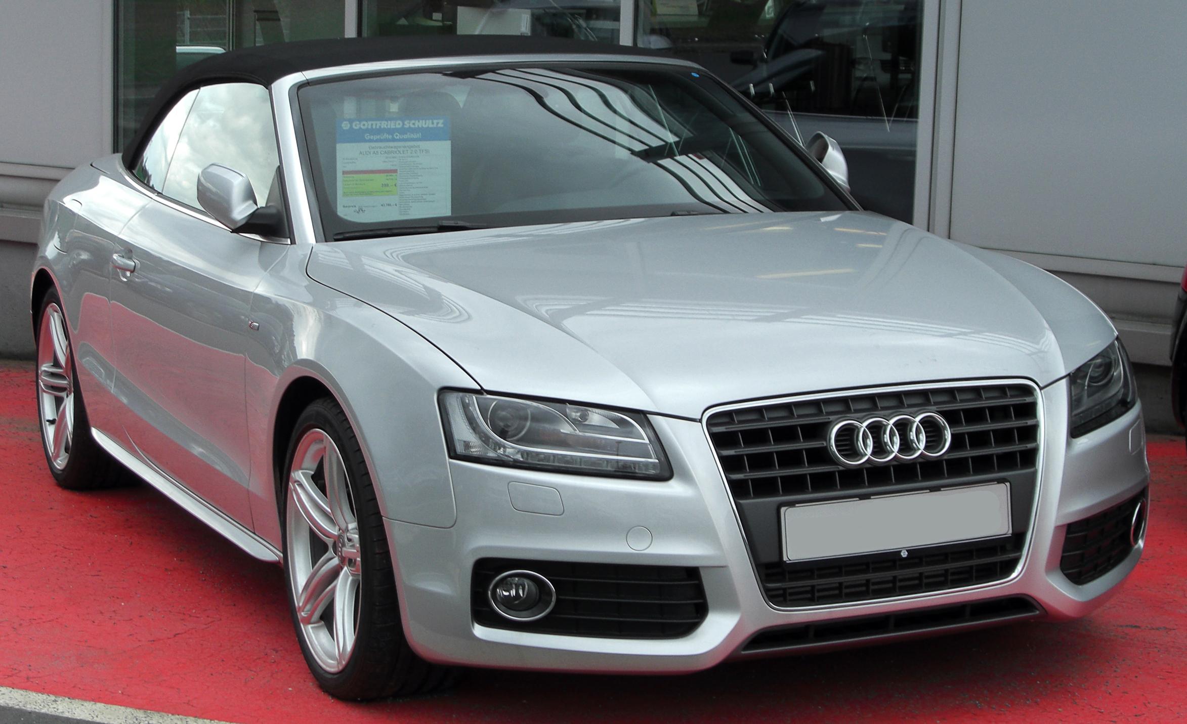 File Audi A5 Cabriolet 2 0 Tfsi Front 20100328 Jpg