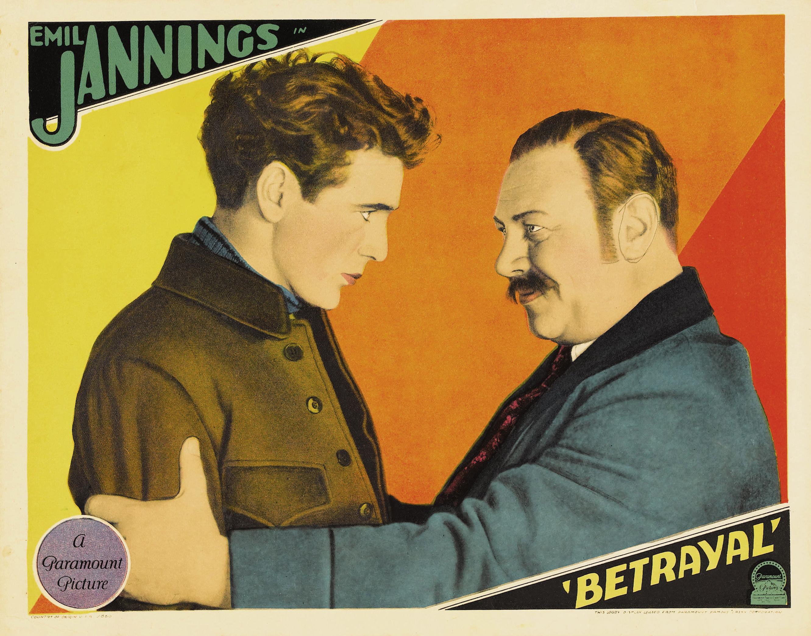 裏切者 (1929年の映画) , Wikipedia