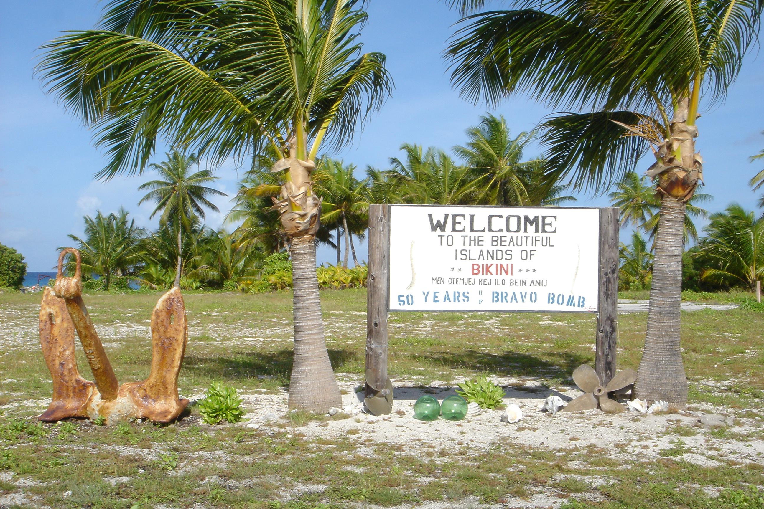 Bikini atoll test site