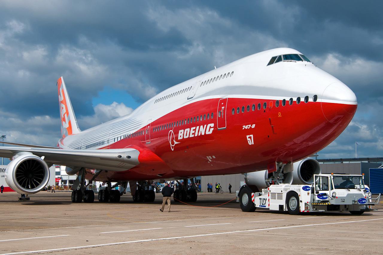 Boeing 747-8 N6067E Paris Air Show Beltyukov