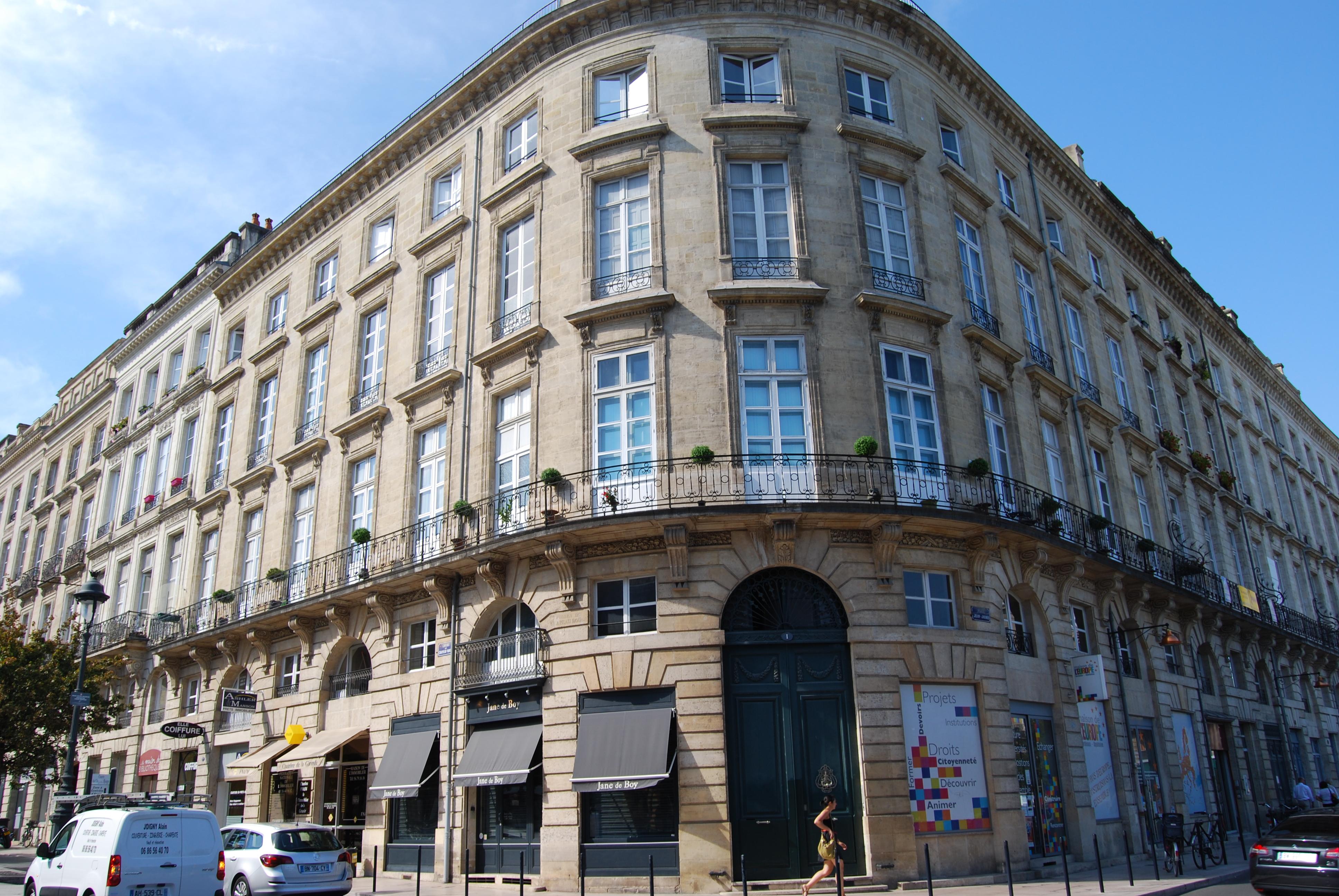 File bordeaux h tel boyer fonfr de 1 cours du chapeau for Hotel original bordeaux
