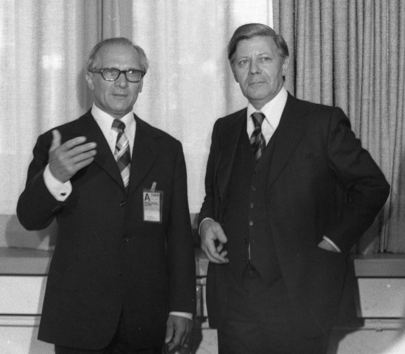 Erich Honecker e Helmut Schmidt