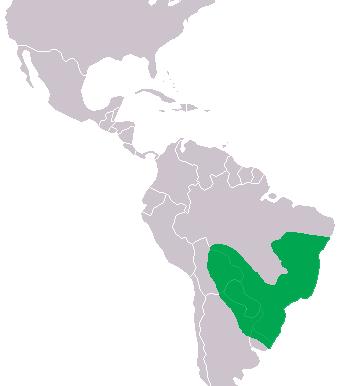 Distribución del yacaré overo