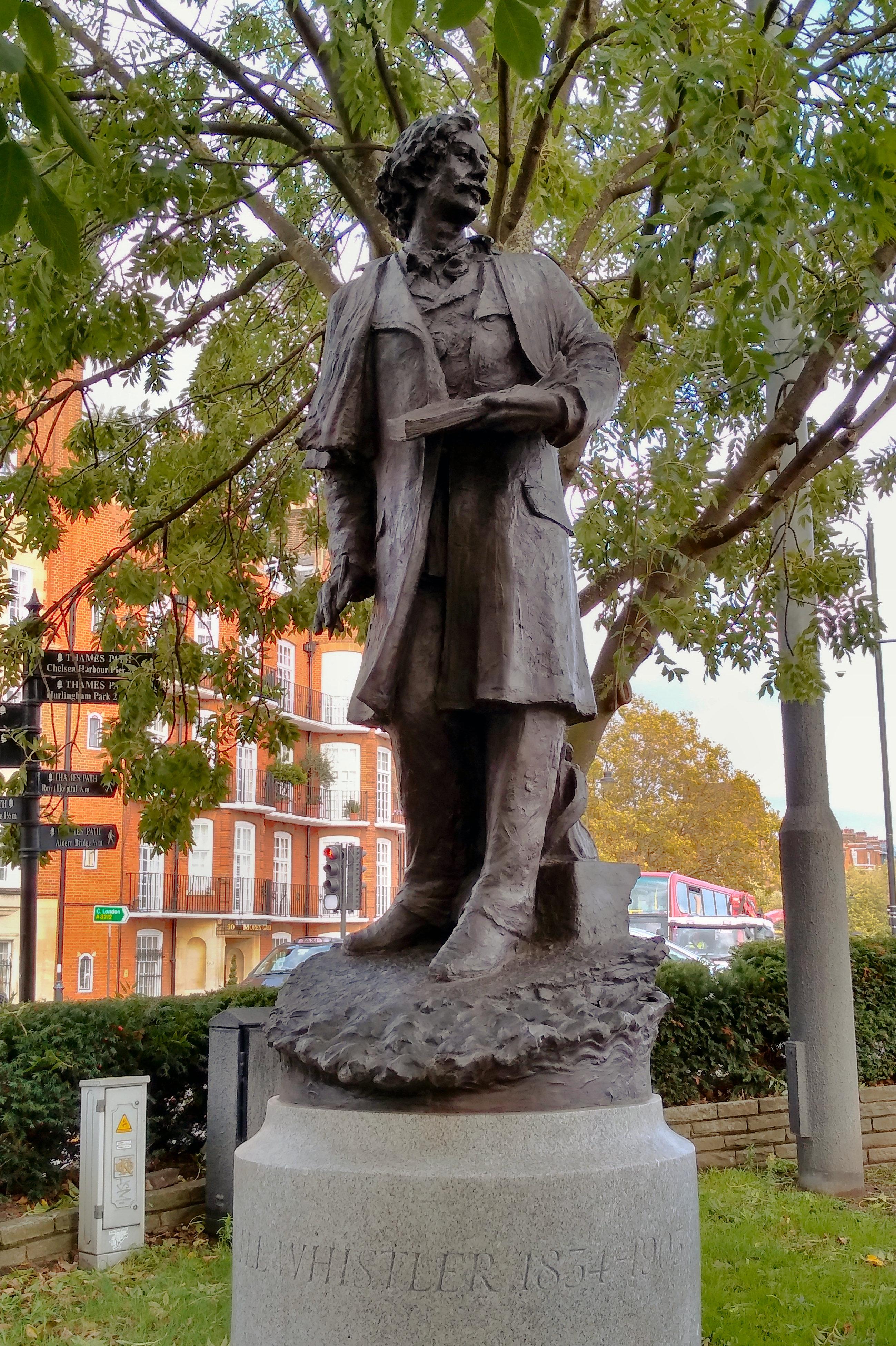 File Chelsea Embankment Statue Of Whistler Jpg Wikimedia Commons