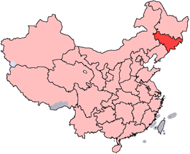 Jilin is highlighted on this map