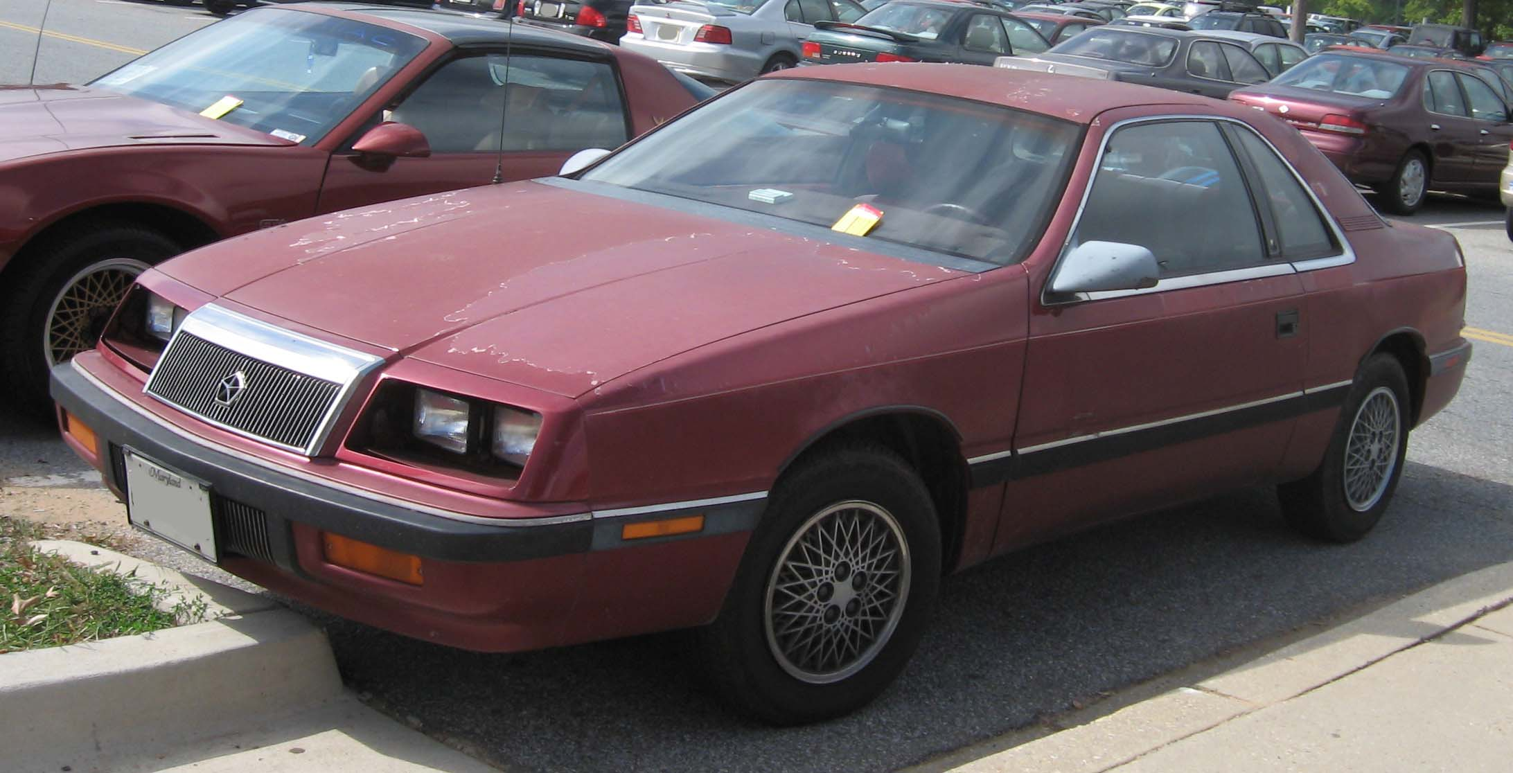 file chrysler lebaron coupe wikimedia commons. Black Bedroom Furniture Sets. Home Design Ideas