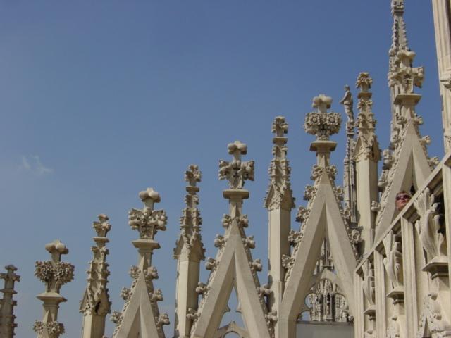 detal katedry w Mediolanie
