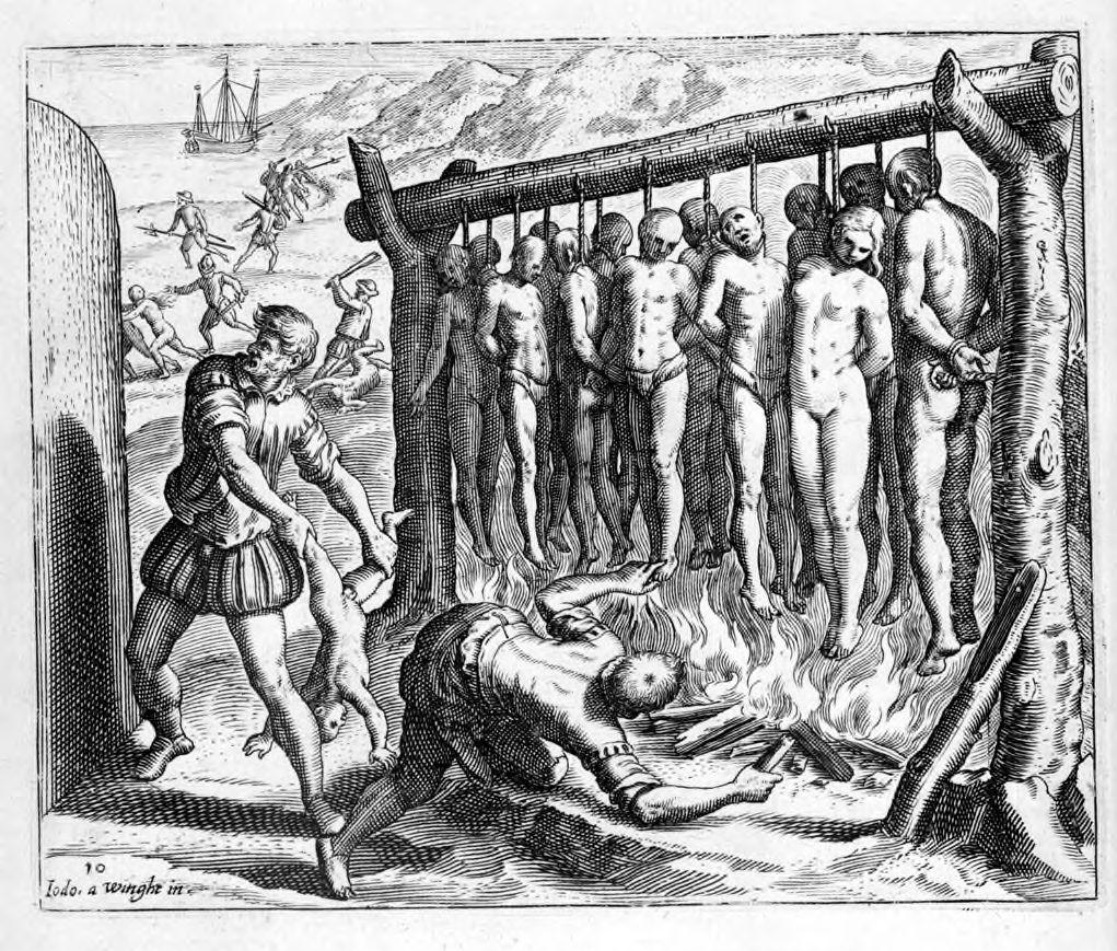 genocidio indigena durante la conquista