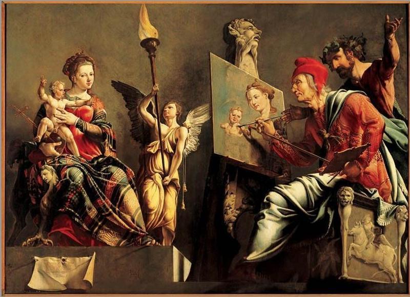 File:De heilige Lucas schildert de Madonna - Maarten van Heemskerck-1532.JPG