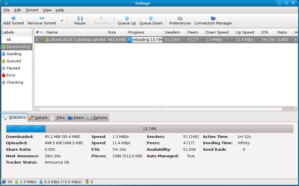 Deluge 0 5 5 95 alpha12 bit client for windows