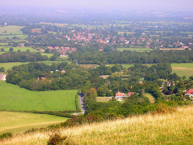 Ditchling from Ditchling Beacon - geograph.org.uk - 48438