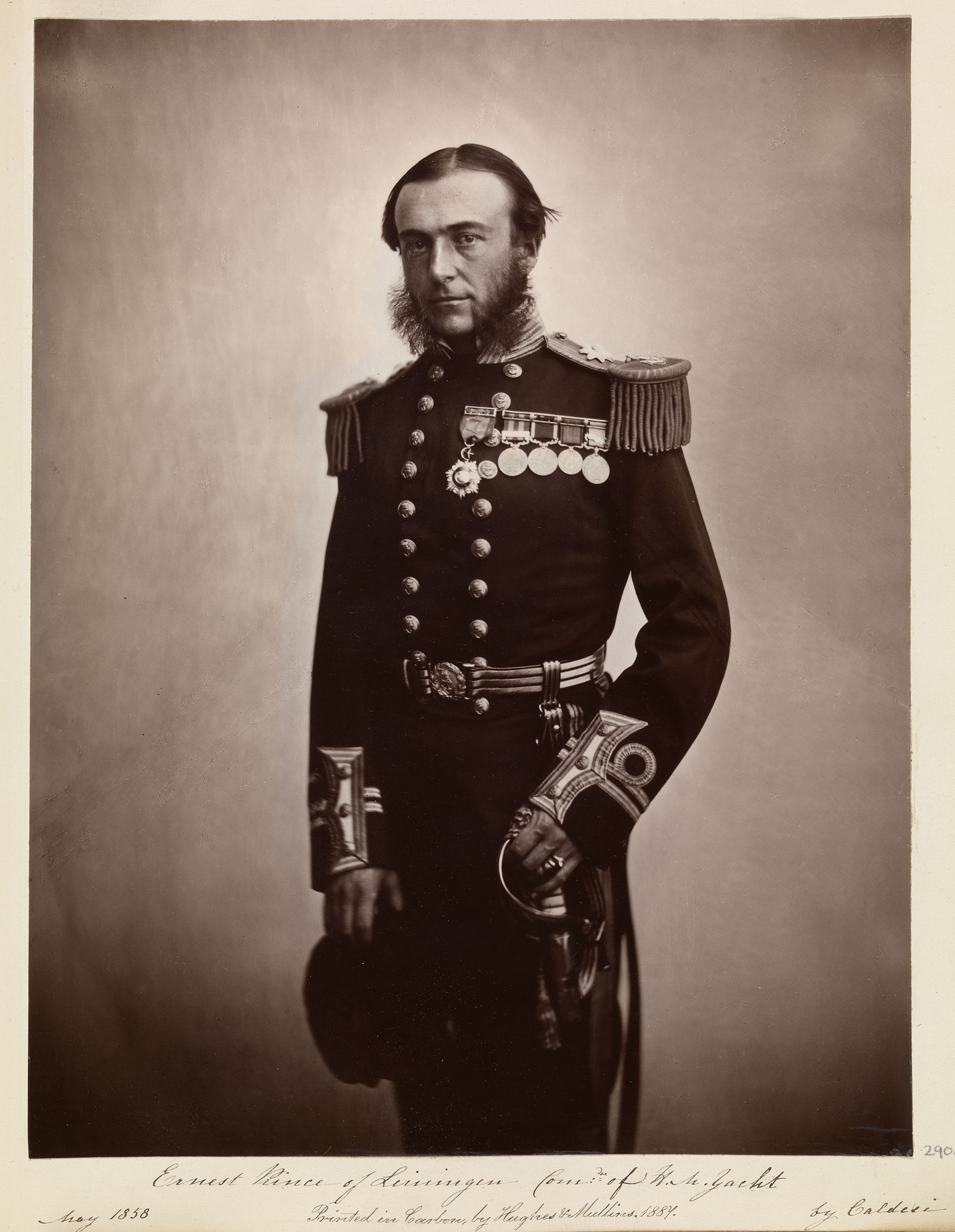 Ernest, Prince of Leiningen (1830-1904), Commander of H.M. Yacht.jpg