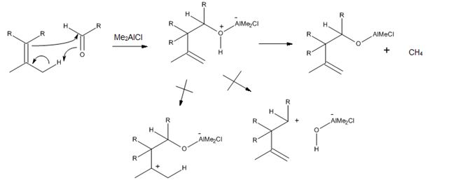 Figure 9. Me2AlCl-catalyzed carbonyl-ene reactions