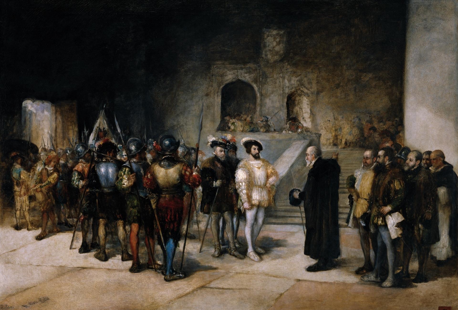 File Francisco I Rey De Francia Entrando Prisionero En La Torre De Los Lujanes Jpg Wikimedia Commons