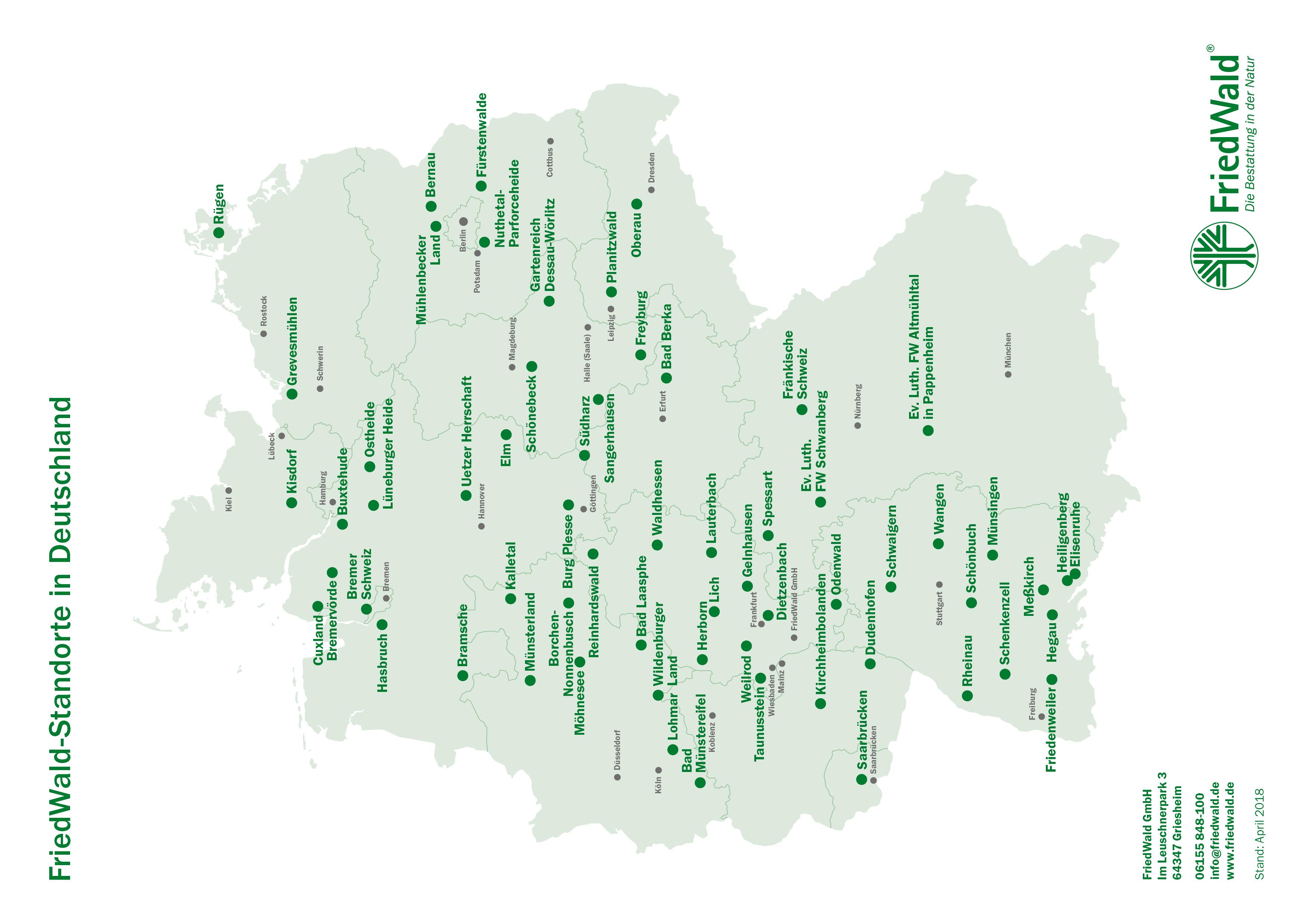 File Friedwald Standorte In Deutschland Jpg Wikimedia Commons