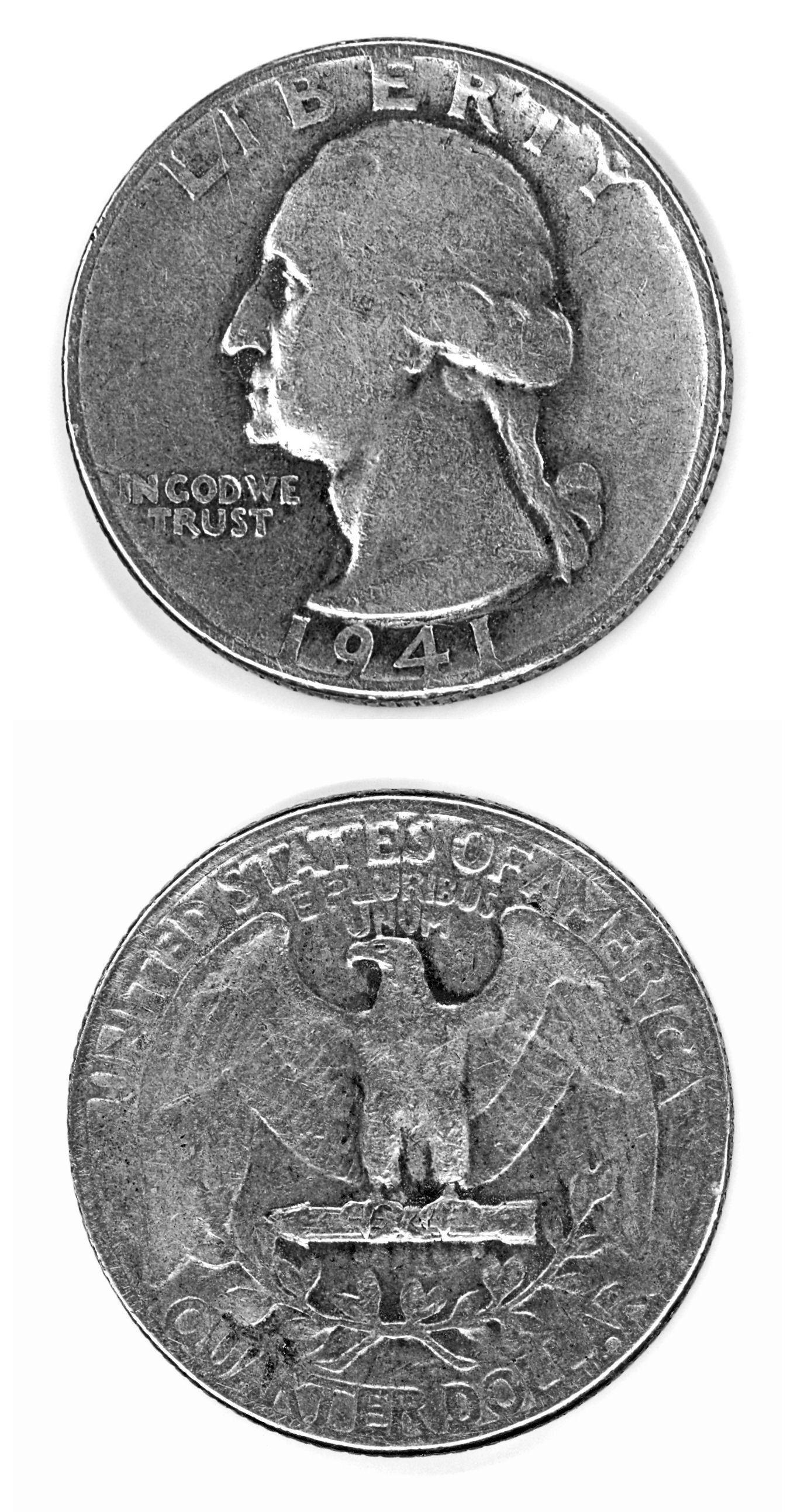 George Washington auf einer 25 Cent-Münze