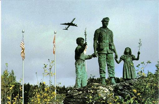 Memorial commemorating the crash at the Gander Airport.