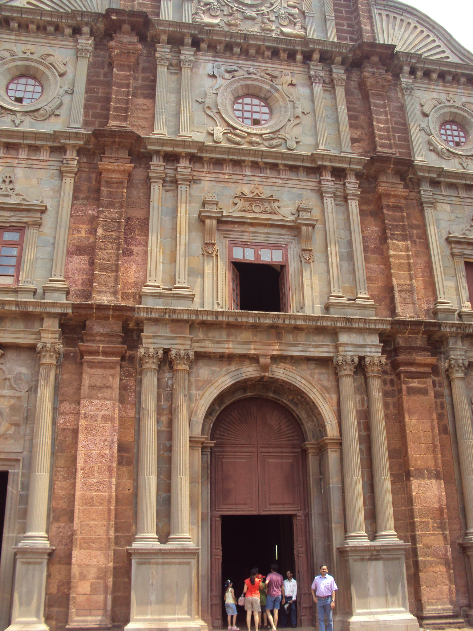 The entrance to St Francis Xavier Church in Goa
