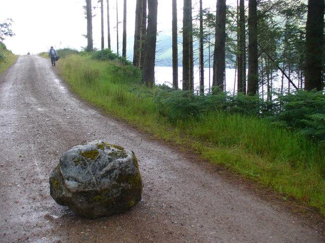 Great Glen Way Road Block - geograph.org.uk - 888870