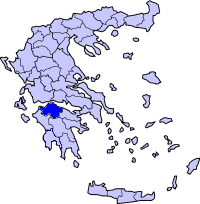 Location of Ahaya Prefecture in Greece