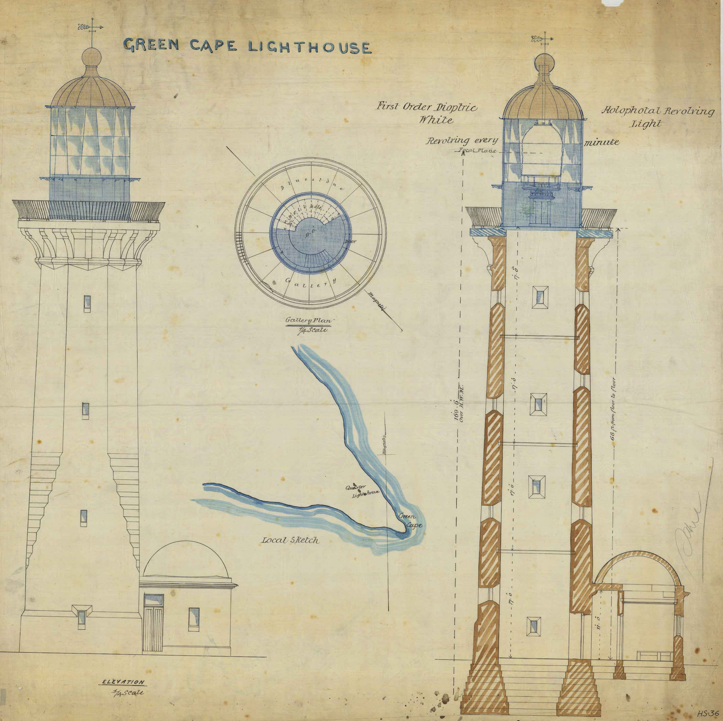 File Green Cape Lighthouse Plans Wikimedia